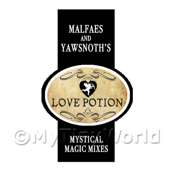 Dolls House Miniature Love Potion Magic Label Style 2
