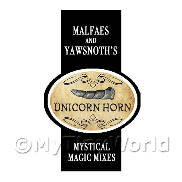 Dolls House Miniature Unicorn Horn Magic Label Style 2