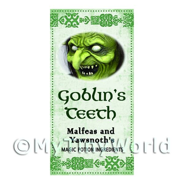 Dolls House Miniature Goblins Teeth Magic Label (S3)