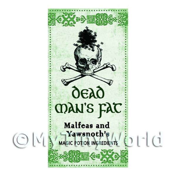Dolls House Miniature Dead Mans Fat Magic Label (S3)
