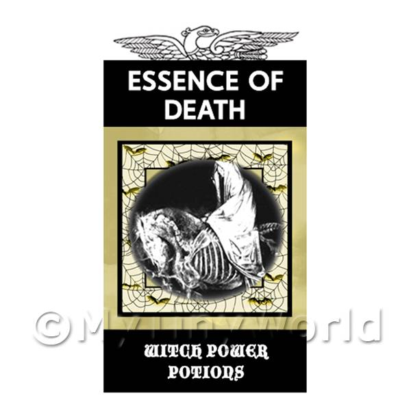 Dolls House Miniature Essence Of Death Magic Label (S4)