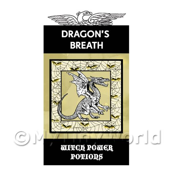 1/12 Scale Dolls House Miniatures  | Dolls House Miniature Dragons Breath Magic Label (S4)