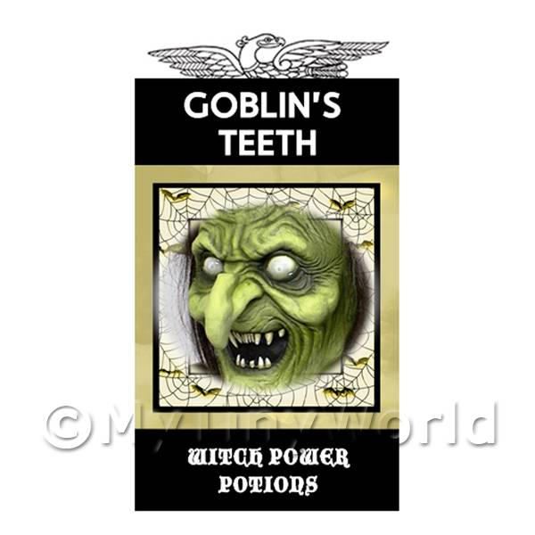 1/12 Scale Dolls House Miniatures  | Dolls House Miniature Goblins Teeth Magic Label (S4)