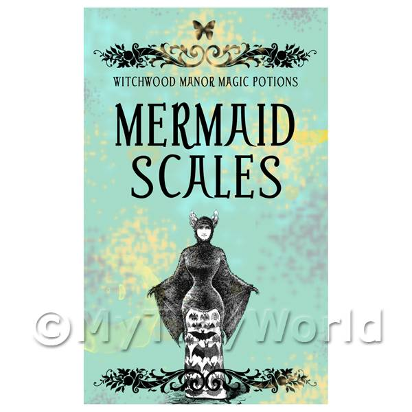 Dolls House Miniature Mermaid Scales Magic Label (S5)