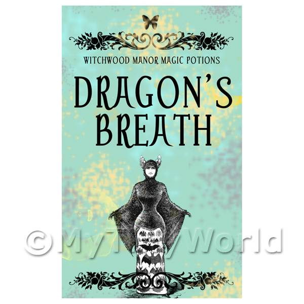 Dolls House Miniature  | Dolls House Miniature Dragons Breath Magic Label (S5)