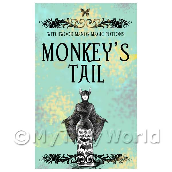 1/12 Scale Dolls House Miniatures  | Dolls House Miniature Monkeys Tail Magic Label (S5)
