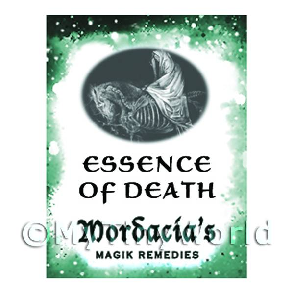 1/12 Scale Dolls House Miniatures  | Dolls House Miniature Essence Of Death Magic Label (S6)