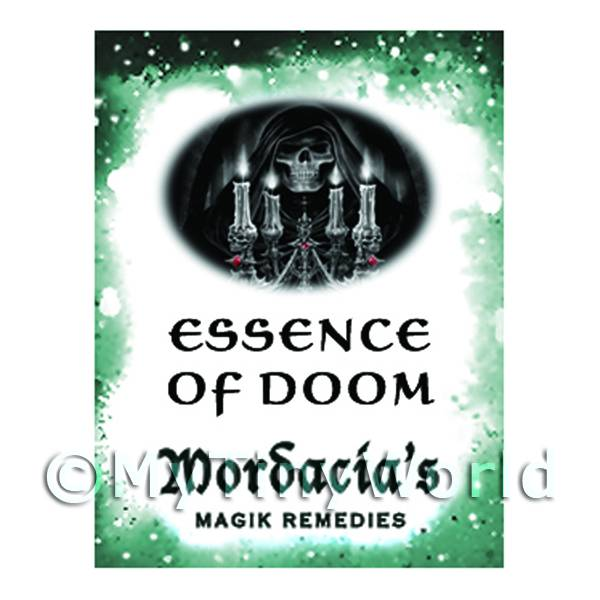 1/12 Scale Dolls House Miniatures  | Dolls House Miniature Essence Of Doom Magic Label (S6)