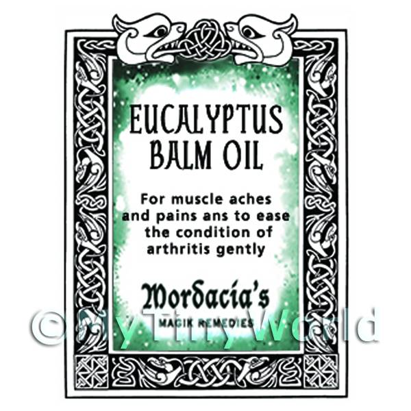 Dolls House Eucalyptus Balm Oil Magic Potions Label (S7)