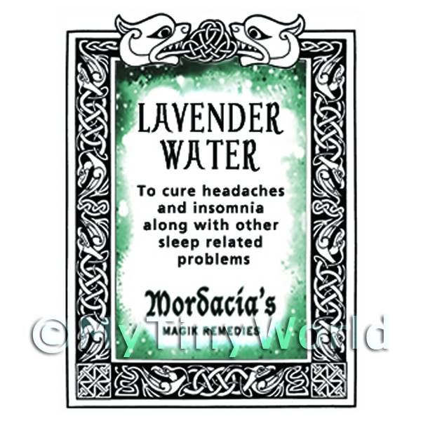 Dolls House Lavender Water Magic Potions Label (S7)