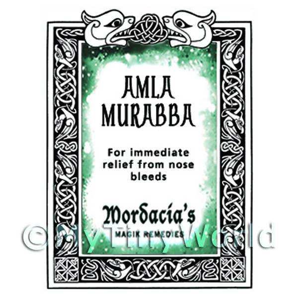 Dolls House Amla Murabba Magic Potions Label (S7)