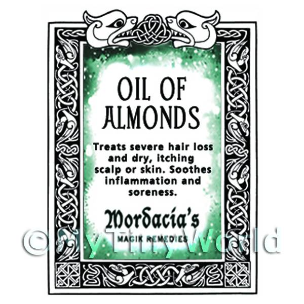 Dolls House Oil Of Almonds Magic Potions Label (S7)