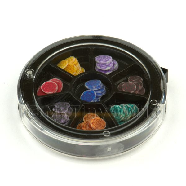 80 Assorted Nail Art Rose Slices In a Wheel Set 2
