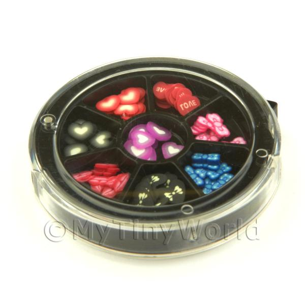 80 Assorted Nail Art Mixed Fun Slices In a Wheel Set 1