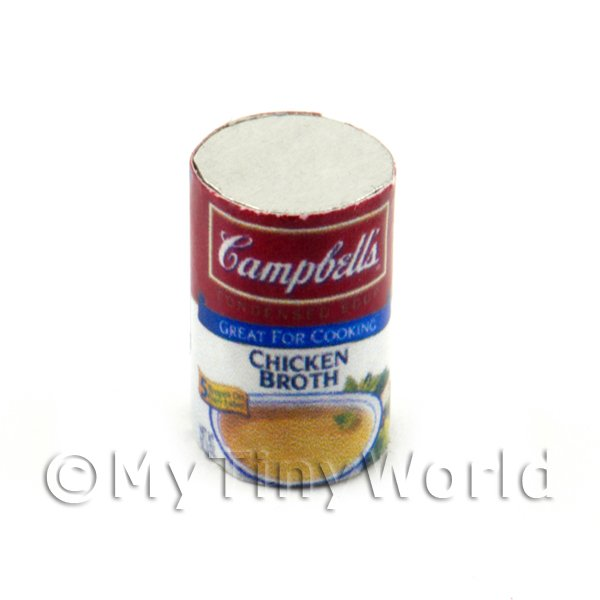Dolls House Miniature  | Dolls House Miniature Campbells Chicken Broth Can