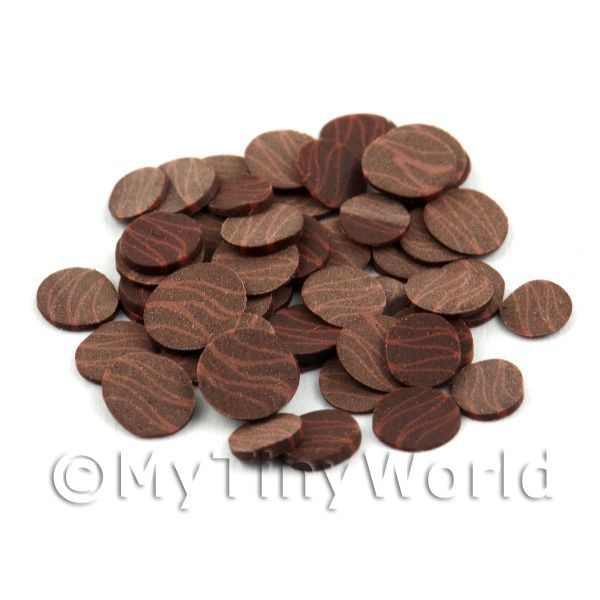 1/12 Scale Dolls House Miniatures  | 50 Dark / Milk Chocolate Slices - Nail Art (11NS39)