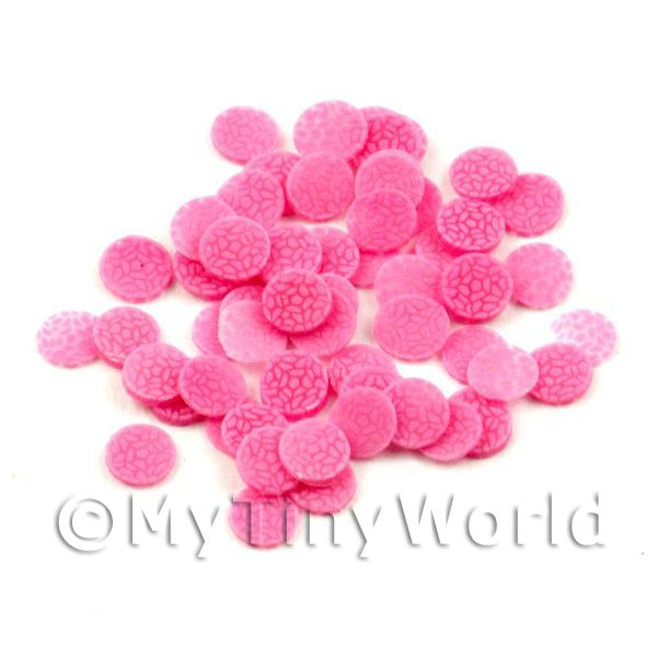 Dolls House Miniature  | 50 All Sorts Pink Jelly Cane Slices - Nail Art (11NS43)