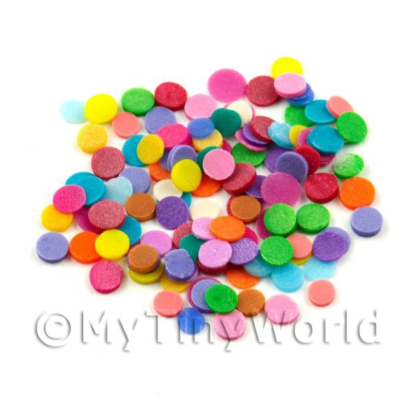 50 Mixed Colour Polka Dots - Nail Art (11NS16)