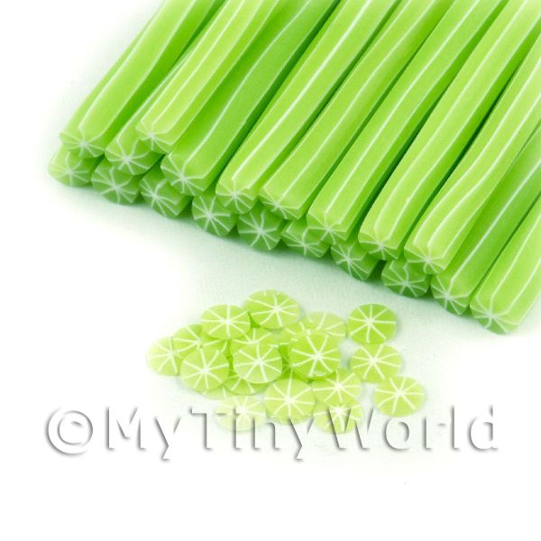 Handmade Skinless Lime Cane - Nail Art (11NC64)