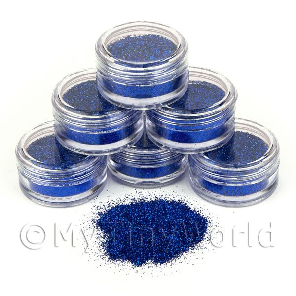 Dolls House Miniature  | High Quality Nail Art Glitter - 2g Pot - Midnight Dream