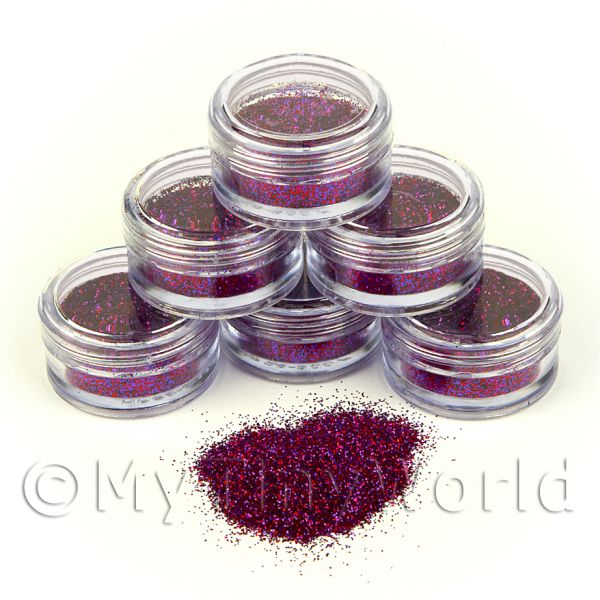 Dolls House Miniature  | High Quality Nail Art Glitter - 2g Pot - Magnetic Magenta
