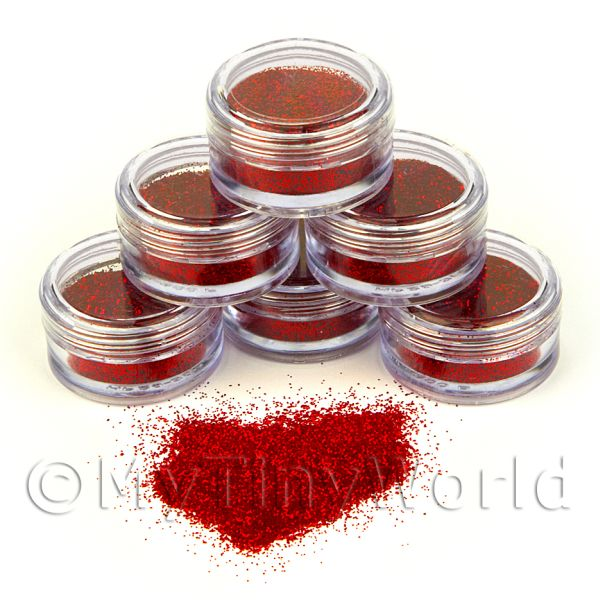 Nail Art - High Quality Nail Art Glitter - 2g Pot - Sunburst Red