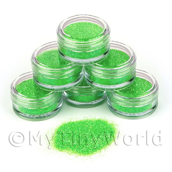 Dolls House Miniature  | High Quality Nail Art Glitter - 2g Pot - Luscious Lime