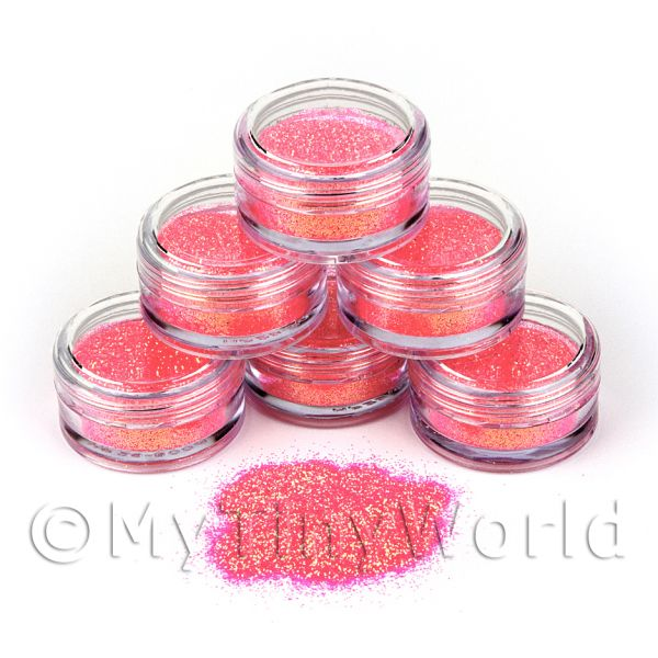 Dolls House Miniature  | High Quality Nail Art Glitter - 2g Pot - Pink Princess