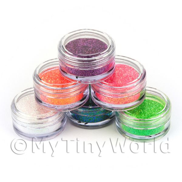 High Quality Nail Art Glitter - 6 x 2g Mixed Pot Set 3