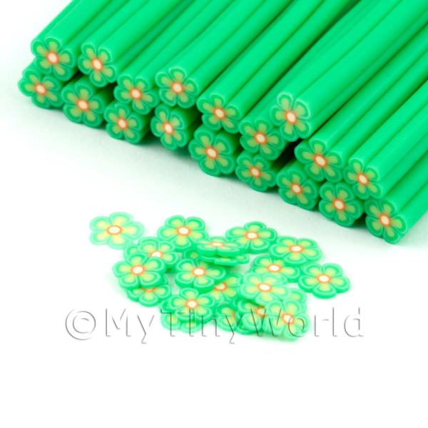 Dolls House Miniature  | Handmade Green Flower Cane - Nail Art (DNC77)