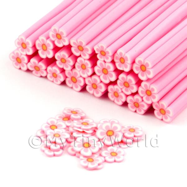Dolls House Miniature  | Handmade Pink Flower Cane - Nail Art (DNC80)