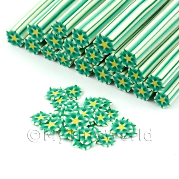 Dolls House Miniature  | Handmade Green Flower Cane - Nail Art (DNC89)