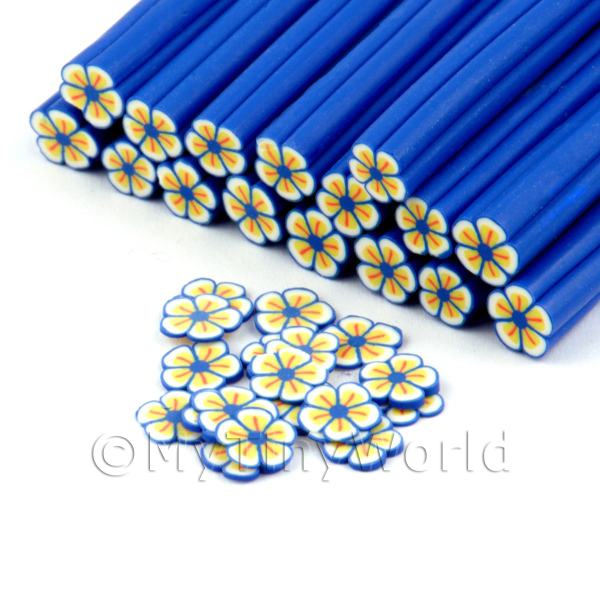 Dolls House Miniature  | Handmade Blue Flower Cane - Nail Art (DNC91)