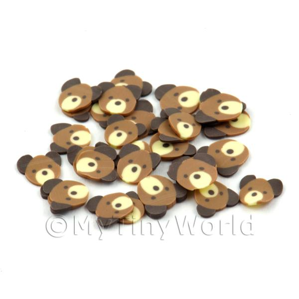 50 Handmade Dark Brown Bear Cane Slices (DNS50)