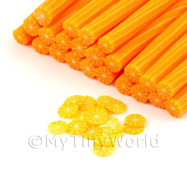 Dolls House Miniature  | 1 Handmade Skinless Orange Cane - Nail Art (DNC56)