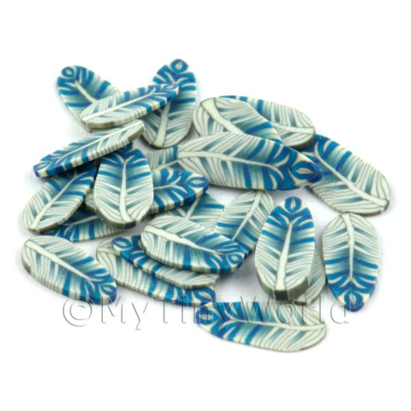 50 Blue and White Cane Slices - Nail Art (DNS09)