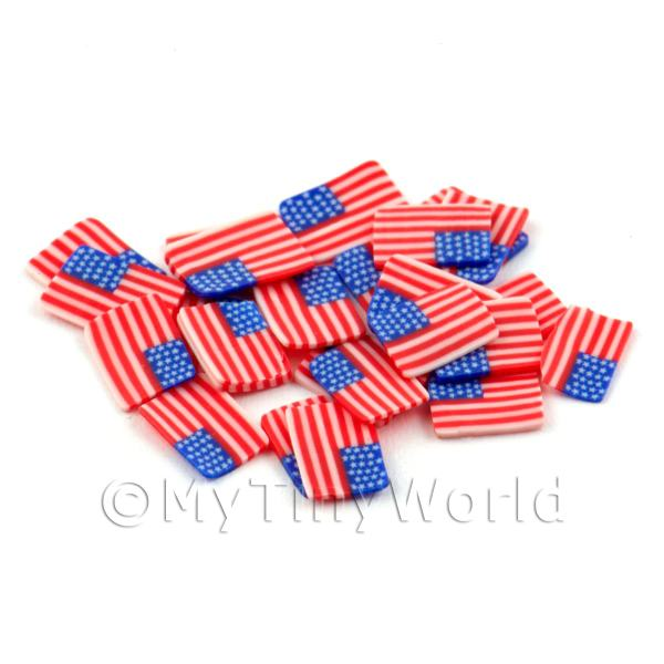 Dolls House Miniature  | 50 Handmade American Flag Cane Slices (DNS48)
