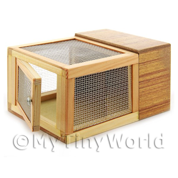 Dolls House Miniature Wooden Hutch