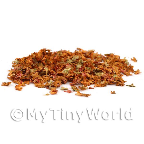 Dolls House Miniature Leaves - Autumn Mix