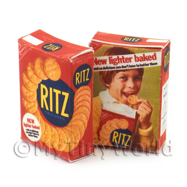 Dolls House Miniature Ritz Cracker Box From 1960s