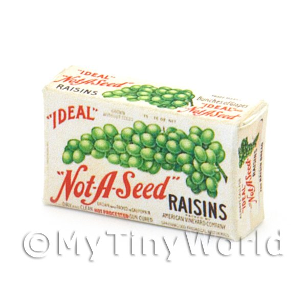 Dolls House Miniature Not-A-Seed Raisins Box From 1950s-60s