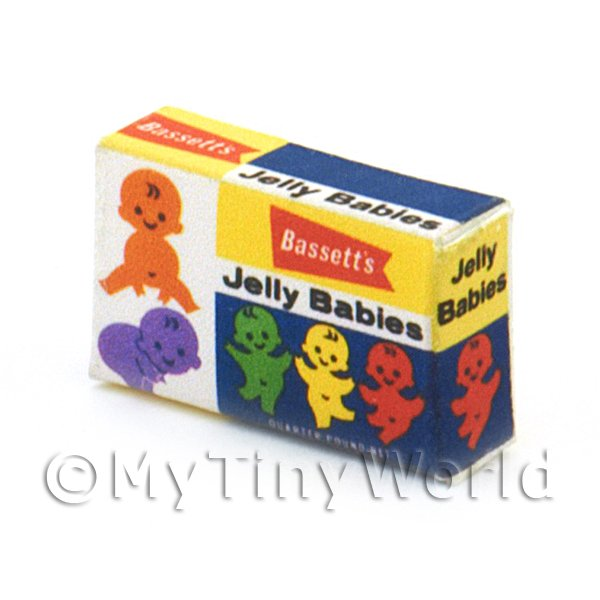 Dolls House Miniature Jelly Baby Box From 1960s