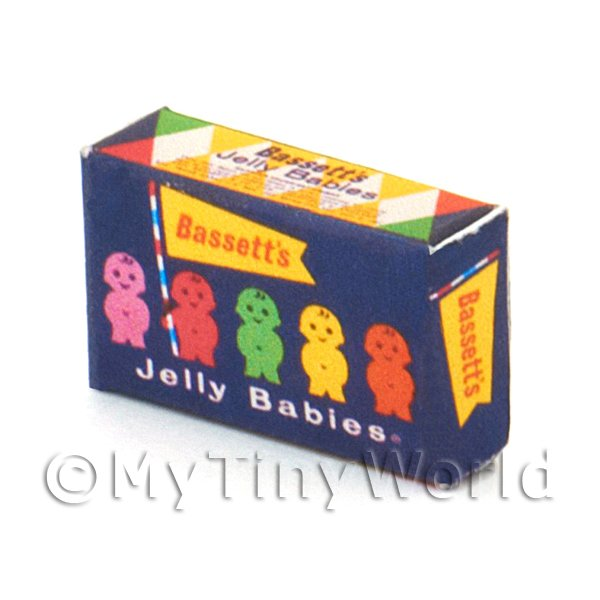 Dolls House Miniature Jelly Baby Box From 1950s