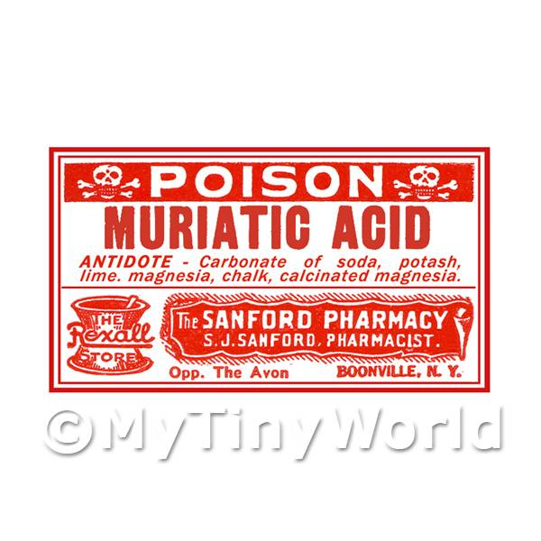 Dolls house miniature apothecary dolls house miniature for Acid house labels