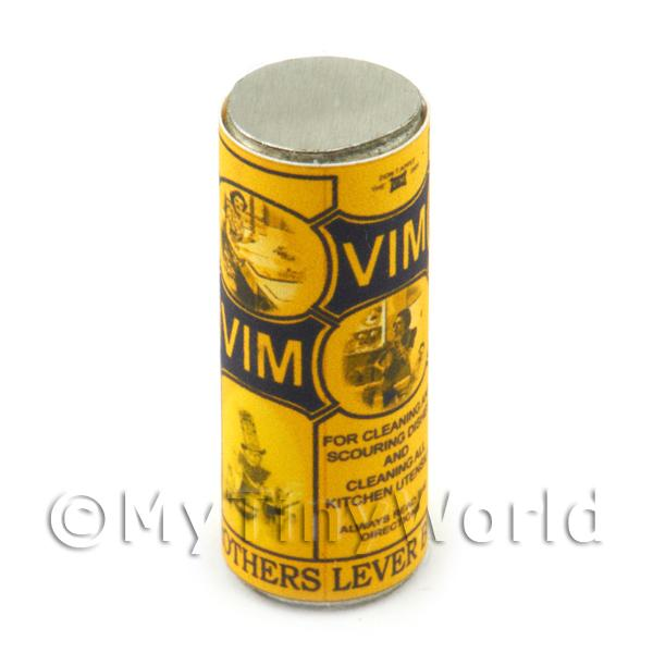 Dolls House Miniature Tall Vim Cleaning Powder Can (1910s)