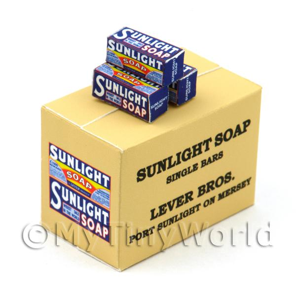 Dolls House Miniature Sunlight Soap Single Bar Stock Box And 3 Boxes