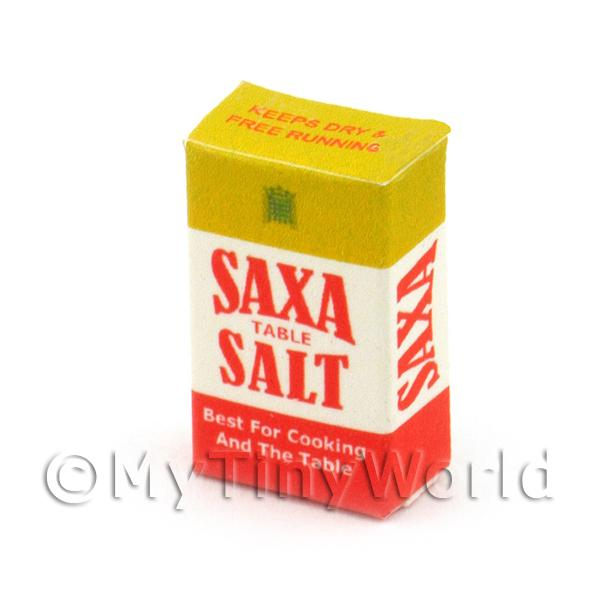 1/12 Scale Dolls House Miniatures  | Dolls House Miniature 1950s Saxa Salt Box