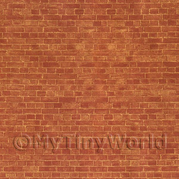 Dolls House Miniature Rustic Brick Cladding Paper