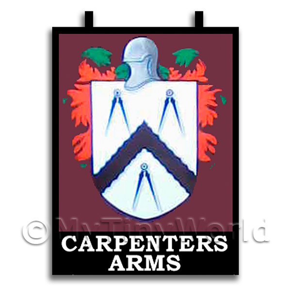 Dolls House Miniature  | Dolls House Miniature Pub / Tavern Sign - Carpenters Arms