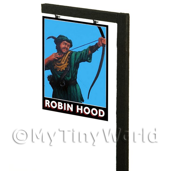 Free Standing Dolls House Pub / Tavern Sign - Robin Hood